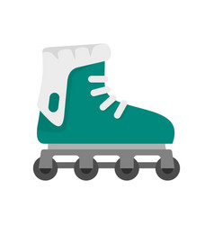Glide inline skates icon flat style vector