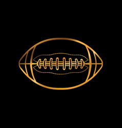 gold colored american football icon vector image