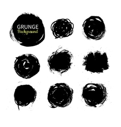 Grunge ink circle background set Abstract vector image