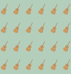 Guitar pattern isolated on background vector