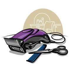 Hair clipper vector
