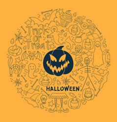 halloween design big set of design vector image