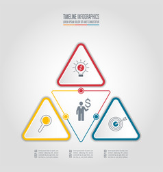 infographic business concept with 3 options vector image