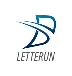 Initial letter b line logo concept design symbol vector