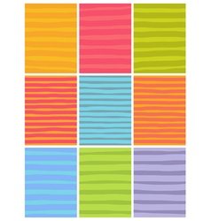 Irregular line patterns in multiple colors vector