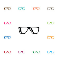 isolated geek icon eyeglasses element can vector image