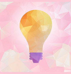 light bulb abstract polygonal vector image