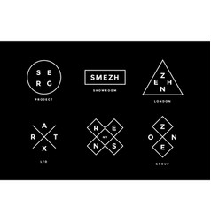 line logo set set of simle line logo in modern vector image
