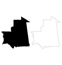mauritania map vector image