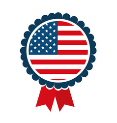 medal united states america vector image