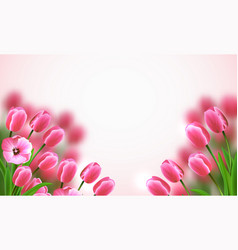 mothers day flowers composition vector image