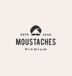 moustaches guru hipster vintage logo icon vector image