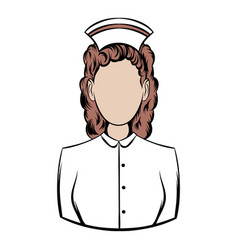nurse icon cartoon vector image