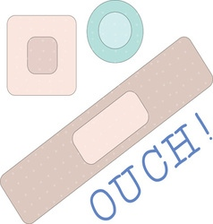 Ouch bandages vector