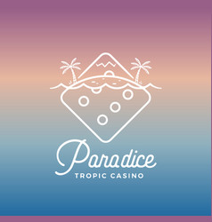 paradice tropic casino label emblem vector image