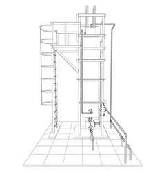 Petroleum gas heating furnace tracing vector