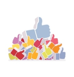 Pile of likes vector
