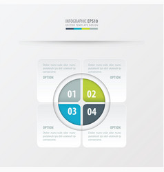 Rectangle presentation design green blue gray vector