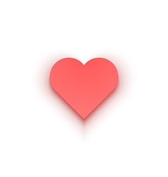 Red Heart Isolated on White background vector image