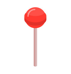 red sweet lollipop icon isometric style vector image