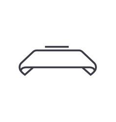ribbon line icon sign o vector image vector image