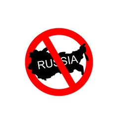 Russia banned Stop Russian aggressors Red vector