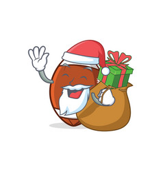 Santa with gift american football character vector