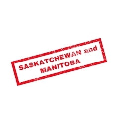 Saskatchewan And Manitoba Rubber Stamp vector