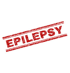 Scratched textured epilepsy stamp seal vector