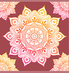 seamless ethnic pattern with floral motives vector image