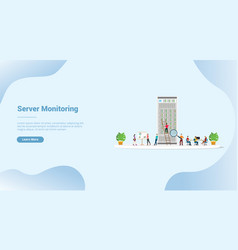 Server monitoring or analysis for website vector