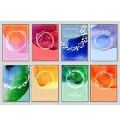 set creative cards vector image