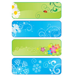 set of 4 different seasonal banners vector image