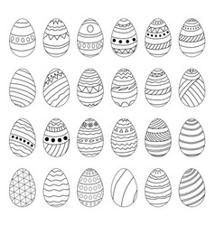 set of easter eggs with different patterns vector image
