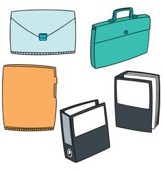 set of folder vector image