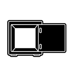 silhouette strong box object open to protection vector image