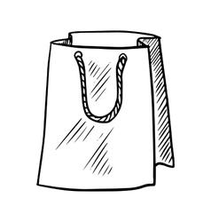 sketch paper shopping bag vector image