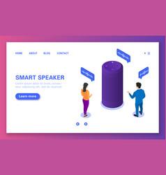 Smart speaker the concept a voice assistant vector