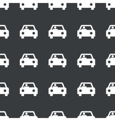 Straight black car pattern vector
