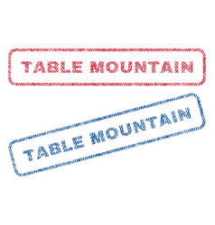 Table mountain textile stamps vector