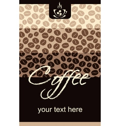 Template Coffee shop menu vector