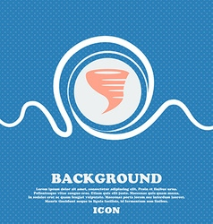 Tornado icon Blue and white abstract background vector image
