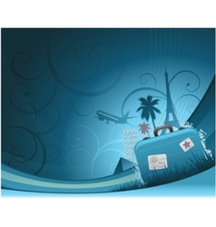 Travel background concept vector