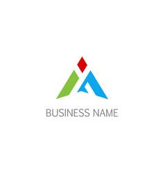 triangle shape business economy company logo vector image