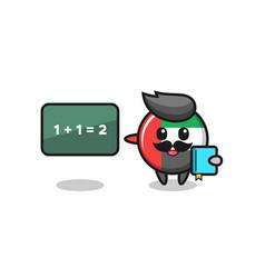 Uae flag badge character as a teacher vector