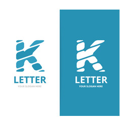 unique letter k logo design template vector image