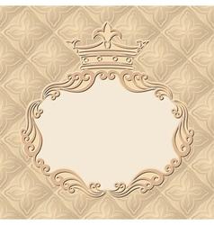 Vintage background with royal frame vector