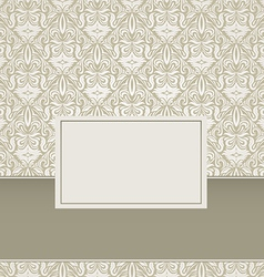 Vintage Damask Background Design vector