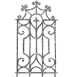 Vintage window grill vector