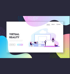 virtual machines vms technology landing page vector image
